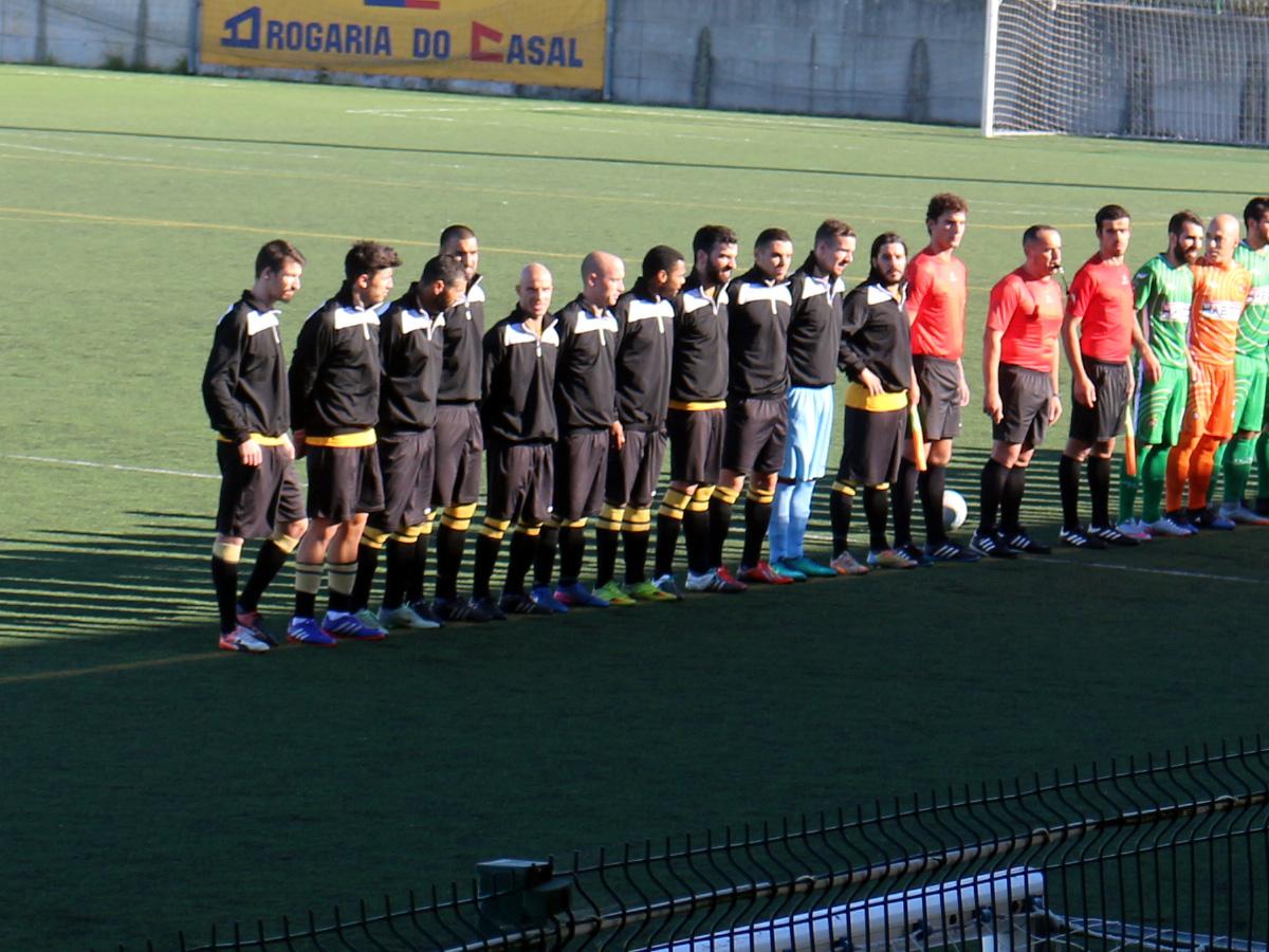 A equipa que iniciou a partida, Maga, Paulo, Bruno, Boni, Careca, Carlos, André, Jorge, Simão, Matos e Macieira
